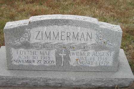 ZIMMERMAN, EDYTHE MAE - Cass County, North Dakota | EDYTHE MAE ZIMMERMAN - North Dakota Gravestone Photos