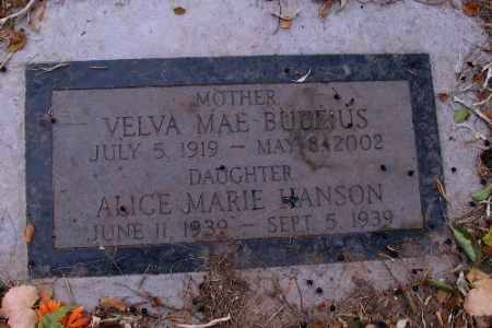 HANSON, ALICE MARIE - Cass County, North Dakota | ALICE MARIE HANSON - North Dakota Gravestone Photos