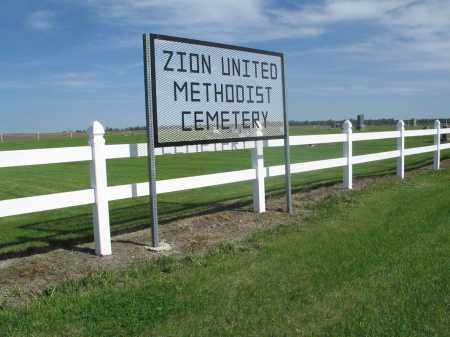 AA-ZION UNITED METHODIST CEMET, WEST ENTRANCE - Dickey County, North Dakota   WEST ENTRANCE AA-ZION UNITED METHODIST CEMET - North Dakota Gravestone Photos