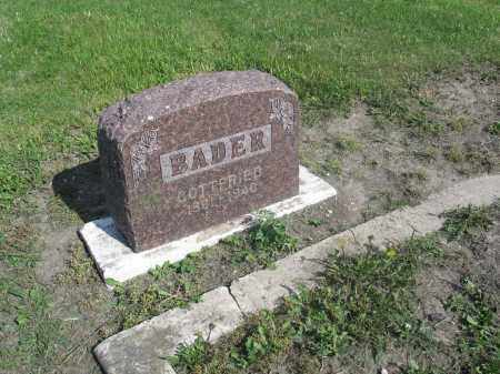 BADER 003, GOTTFRIED - Dickey County, North Dakota | GOTTFRIED BADER 003 - North Dakota Gravestone Photos
