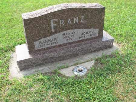 FRANZ 104, HANNAH - Dickey County, North Dakota   HANNAH FRANZ 104 - North Dakota Gravestone Photos