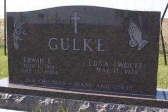 GULKE, ERWIN E. - Dickey County, North Dakota   ERWIN E. GULKE - North Dakota Gravestone Photos