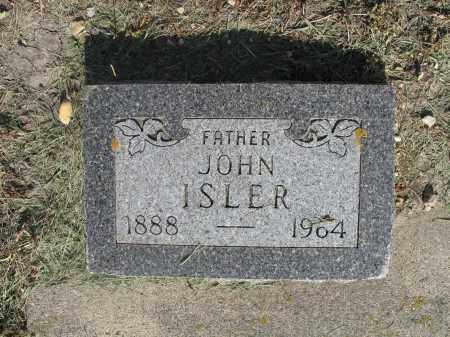 ISLER 050, JOHN - Dickey County, North Dakota   JOHN ISLER 050 - North Dakota Gravestone Photos
