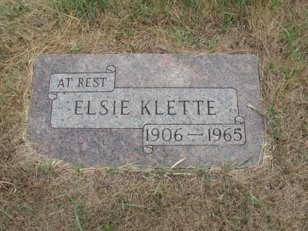 KLETTKE 248, ELSIE - Dickey County, North Dakota   ELSIE KLETTKE 248 - North Dakota Gravestone Photos