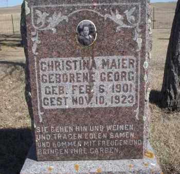 GEORG MAIER, CHRISTINA - Dickey County, North Dakota | CHRISTINA GEORG MAIER - North Dakota Gravestone Photos