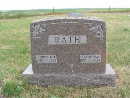 RATH 253, CHRISTOPH SR. - Dickey County, North Dakota | CHRISTOPH SR. RATH 253 - North Dakota Gravestone Photos