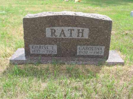 RATH 258, CHRISTIAN E. - Dickey County, North Dakota | CHRISTIAN E. RATH 258 - North Dakota Gravestone Photos