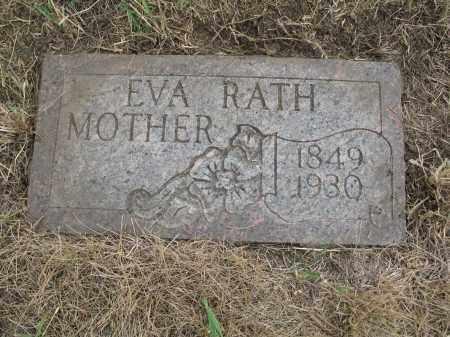 RATH 268, EVA - Dickey County, North Dakota   EVA RATH 268 - North Dakota Gravestone Photos