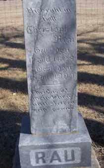 RAU, CHRISTOPH - Dickey County, North Dakota | CHRISTOPH RAU - North Dakota Gravestone Photos