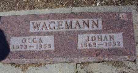 WAGEMANN, OLGA - Dickey County, North Dakota | OLGA WAGEMANN - North Dakota Gravestone Photos