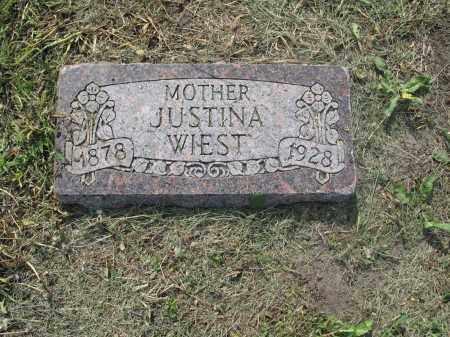 WIEST 009, JUSTINA - Dickey County, North Dakota | JUSTINA WIEST 009 - North Dakota Gravestone Photos