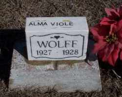 WOLFF, ALMA VIOLET - Dickey County, North Dakota | ALMA VIOLET WOLFF - North Dakota Gravestone Photos
