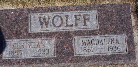 SCHOCK WOLFF, MAGDALENA - Dickey County, North Dakota | MAGDALENA SCHOCK WOLFF - North Dakota Gravestone Photos