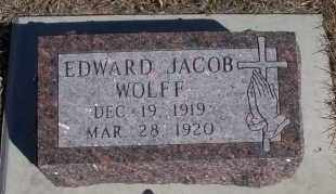 WOLFF, EDWARD JACOB - Dickey County, North Dakota   EDWARD JACOB WOLFF - North Dakota Gravestone Photos
