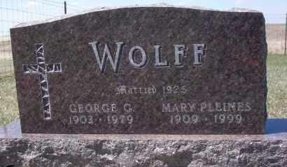 WOLFF, GEORGE G. - Dickey County, North Dakota | GEORGE G. WOLFF - North Dakota Gravestone Photos
