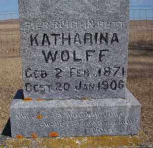 WOLFF, KATHARINA - Dickey County, North Dakota   KATHARINA WOLFF - North Dakota Gravestone Photos
