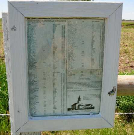 00-CEMETERY, BURIALS SIGN PHOTO - Emmons County, North Dakota   BURIALS SIGN PHOTO 00-CEMETERY - North Dakota Gravestone Photos
