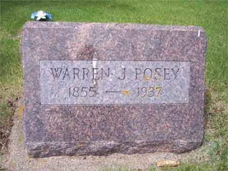 POSEY, WARREN J - Foster County, North Dakota | WARREN J POSEY - North Dakota Gravestone Photos