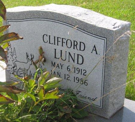 LUND, CLIFFORD A. - GrandForks County, North Dakota | CLIFFORD A. LUND - North Dakota Gravestone Photos