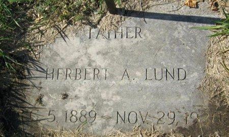 LUND, HERBERT A. - GrandForks County, North Dakota | HERBERT A. LUND - North Dakota Gravestone Photos