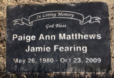 ANN MATHEWS, PAIGE - GrandForks County, North Dakota | PAIGE ANN MATHEWS - North Dakota Gravestone Photos