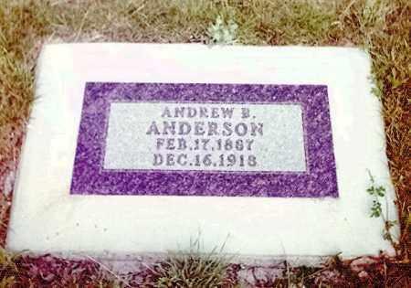 ANDERSON, ANDREW B - Kidder County, North Dakota   ANDREW B ANDERSON - North Dakota Gravestone Photos