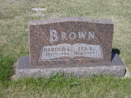 BROWN, HAROLD L - Kidder County, North Dakota | HAROLD L BROWN - North Dakota Gravestone Photos