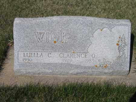 WICK, CLARENCE O - Kidder County, North Dakota | CLARENCE O WICK - North Dakota Gravestone Photos