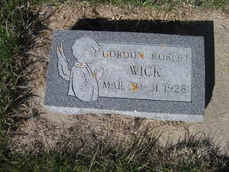 WICK, GORDON ROBERT - Kidder County, North Dakota | GORDON ROBERT WICK - North Dakota Gravestone Photos