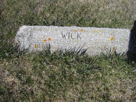 WICK, HENRY - Kidder County, North Dakota | HENRY WICK - North Dakota Gravestone Photos