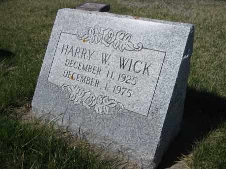 WICK, HARRY WALTER - Kidder County, North Dakota | HARRY WALTER WICK - North Dakota Gravestone Photos