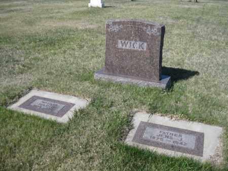 WICK, JENS JAMES - Kidder County, North Dakota | JENS JAMES WICK - North Dakota Gravestone Photos