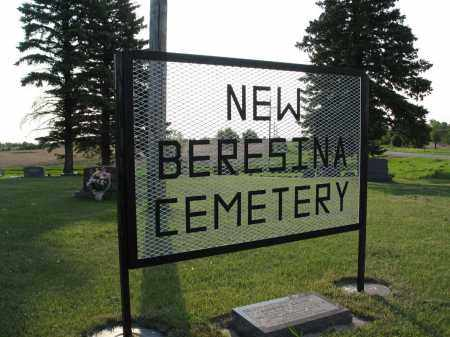 AA-NEW BERESINA CEMETERY SIGN, SOUTH ENTRANCE - LaMoure County, North Dakota | SOUTH ENTRANCE AA-NEW BERESINA CEMETERY SIGN - North Dakota Gravestone Photos