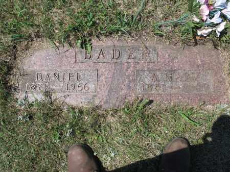 BADER 536, DANIEL - LaMoure County, North Dakota | DANIEL BADER 536 - North Dakota Gravestone Photos
