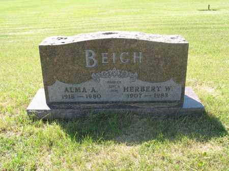 PATZER BEICH 046, ALMA A. - LaMoure County, North Dakota | ALMA A. PATZER BEICH 046 - North Dakota Gravestone Photos