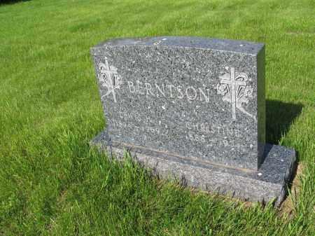 BERNTSON 016, CHRISTINE OVIDA - LaMoure County, North Dakota   CHRISTINE OVIDA BERNTSON 016 - North Dakota Gravestone Photos