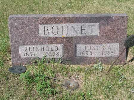 BOHNET 291, REINHOLD - LaMoure County, North Dakota | REINHOLD BOHNET 291 - North Dakota Gravestone Photos