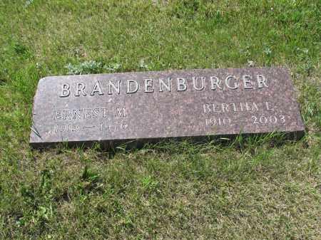 BRANDENBURGER 045, ERNEST M. - LaMoure County, North Dakota | ERNEST M. BRANDENBURGER 045 - North Dakota Gravestone Photos