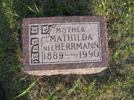 HERRMANN BROST 004, MATHILDA - LaMoure County, North Dakota   MATHILDA HERRMANN BROST 004 - North Dakota Gravestone Photos
