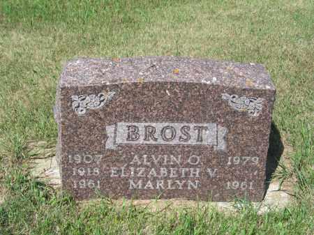 BROST 214, ELIZABETH V. - LaMoure County, North Dakota | ELIZABETH V. BROST 214 - North Dakota Gravestone Photos