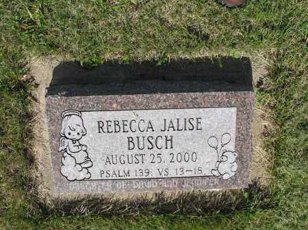 BUSCH 032, REBECCA JALISE - LaMoure County, North Dakota | REBECCA JALISE BUSCH 032 - North Dakota Gravestone Photos