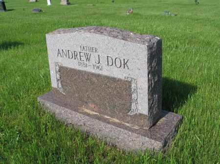 DOK 029, ANDREW J. - LaMoure County, North Dakota | ANDREW J. DOK 029 - North Dakota Gravestone Photos