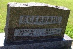 LIND EGERDAHL, NINA C. - LaMoure County, North Dakota | NINA C. LIND EGERDAHL - North Dakota Gravestone Photos