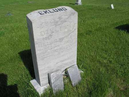 EKLUND 024, ERICK J. - LaMoure County, North Dakota | ERICK J. EKLUND 024 - North Dakota Gravestone Photos