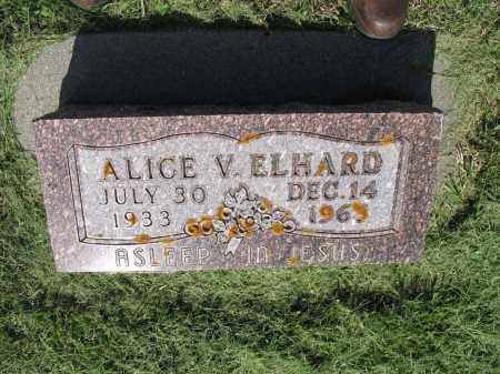 ELHARD 037, ALICE V. - LaMoure County, North Dakota | ALICE V. ELHARD 037 - North Dakota Gravestone Photos