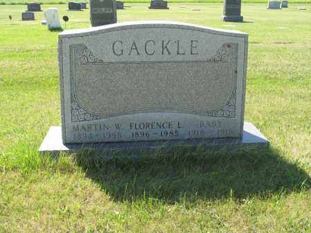GACKLE 068, FLORENCE L. - LaMoure County, North Dakota | FLORENCE L. GACKLE 068 - North Dakota Gravestone Photos
