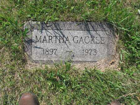 GACKLE 133, MARTHA - LaMoure County, North Dakota | MARTHA GACKLE 133 - North Dakota Gravestone Photos