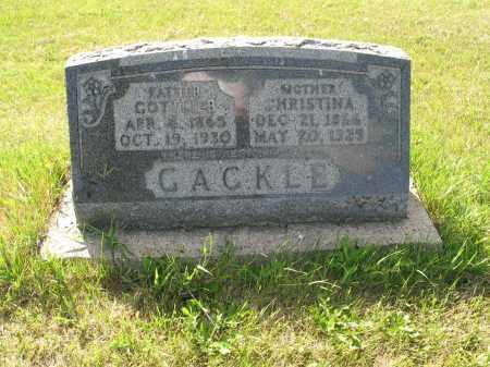 GACKLE 135, GOTTLIEB SR. - LaMoure County, North Dakota | GOTTLIEB SR. GACKLE 135 - North Dakota Gravestone Photos
