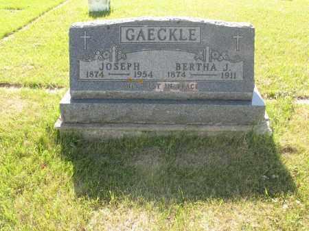 GAECKLE 197, BERTHA JOSEPHINE - LaMoure County, North Dakota | BERTHA JOSEPHINE GAECKLE 197 - North Dakota Gravestone Photos