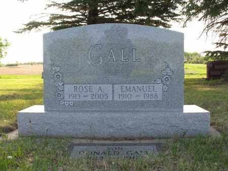 GALL 008, ROSE A. (ELFREDE) - LaMoure County, North Dakota | ROSE A. (ELFREDE) GALL 008 - North Dakota Gravestone Photos
